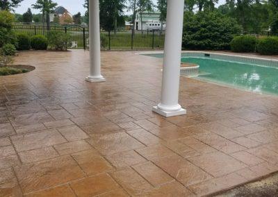 Pool pavers after sealing