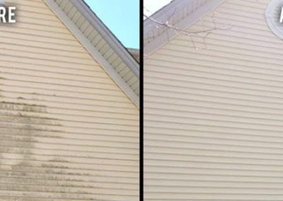 Siding before and after wash